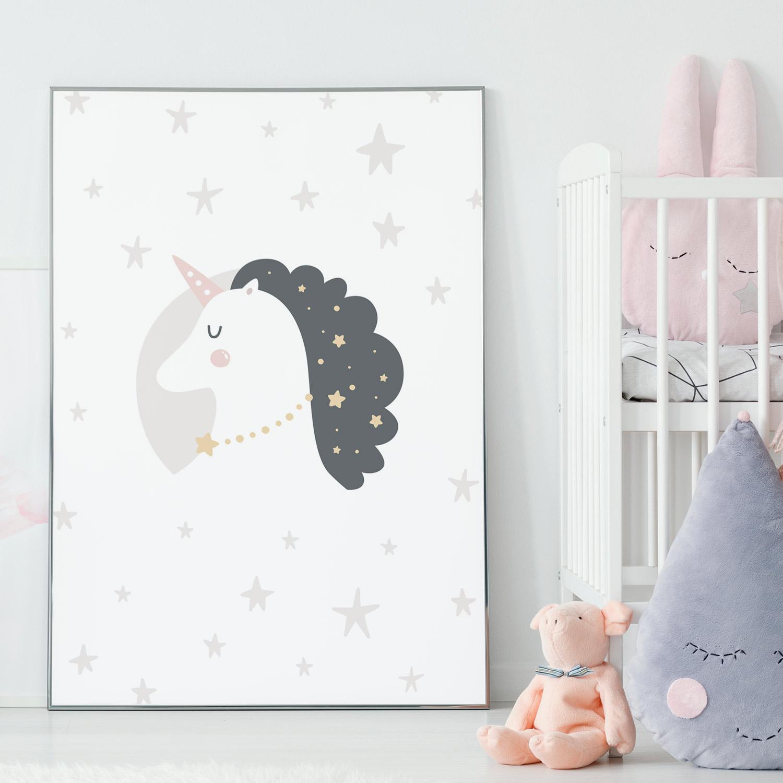Jednorożec Plakat Dla Dzieci Z Kolekcji Jednorożce Wzór 4