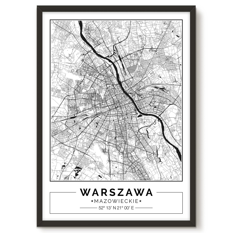 Warszawa Mapa Plakat