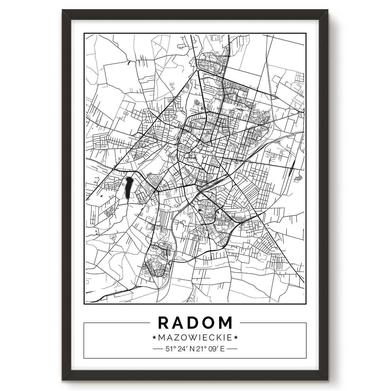 Radom Mapa Plakat Dekoredo